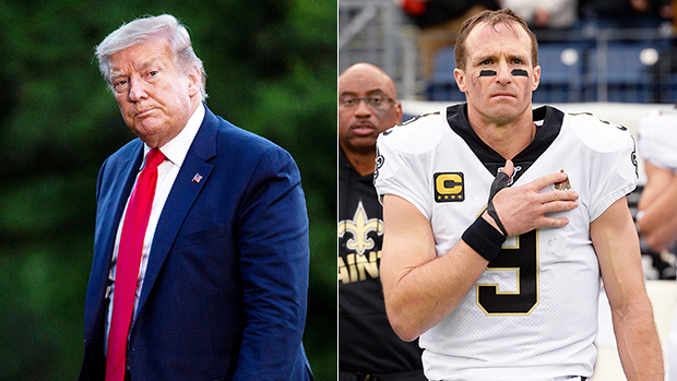 Donald Trump Gets Dragged On Twitter For Shading Drew Brees' Apology Over Anti-Kneeling Comments
