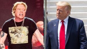 Axl Rose Shades Trump After POTUS Accuses 'Lamestream Media' Of Fomenting 'Hatred & Anarchy'