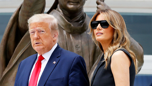 Trump Asks Solemn Melania Trump To Smile In New Photo Op As Civil Unrest Rises Across The Country