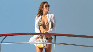 Elizabeth Hurley, 54, Stuns In A Turquoise Blue Bikini During At-Home Photo Shoot