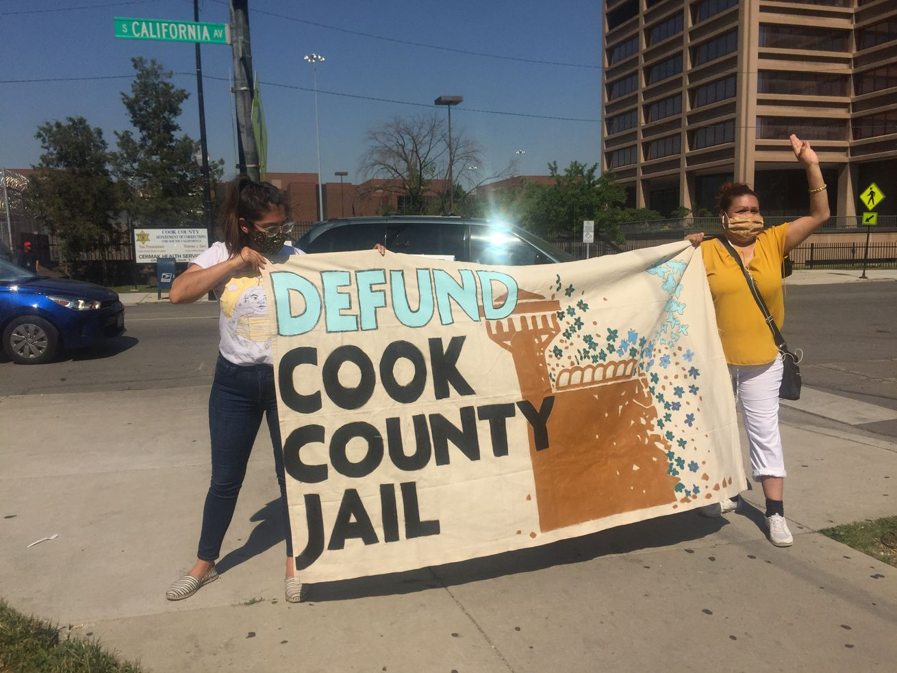 Protesters call for defunding of Cook County Jail