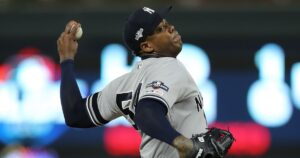 Yankees closer Aroldis Chapman tests positive for the coronavirus