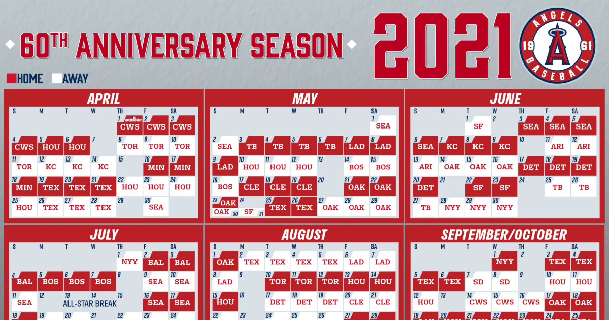 Angels unveil their schedule for 2021 MLB regular season