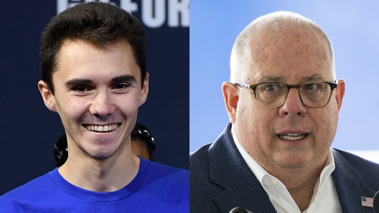 Maryland Gov. Hogan tangles with David Hogg over support for police, investment in minority communities