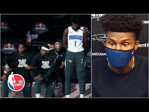 Jonathan Isaac explains decision to stand during national anthem | NBA on ESPN