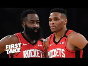 James Harden vs. Russell Westbrook: Who is more important to the Rockets' title run? | First Take