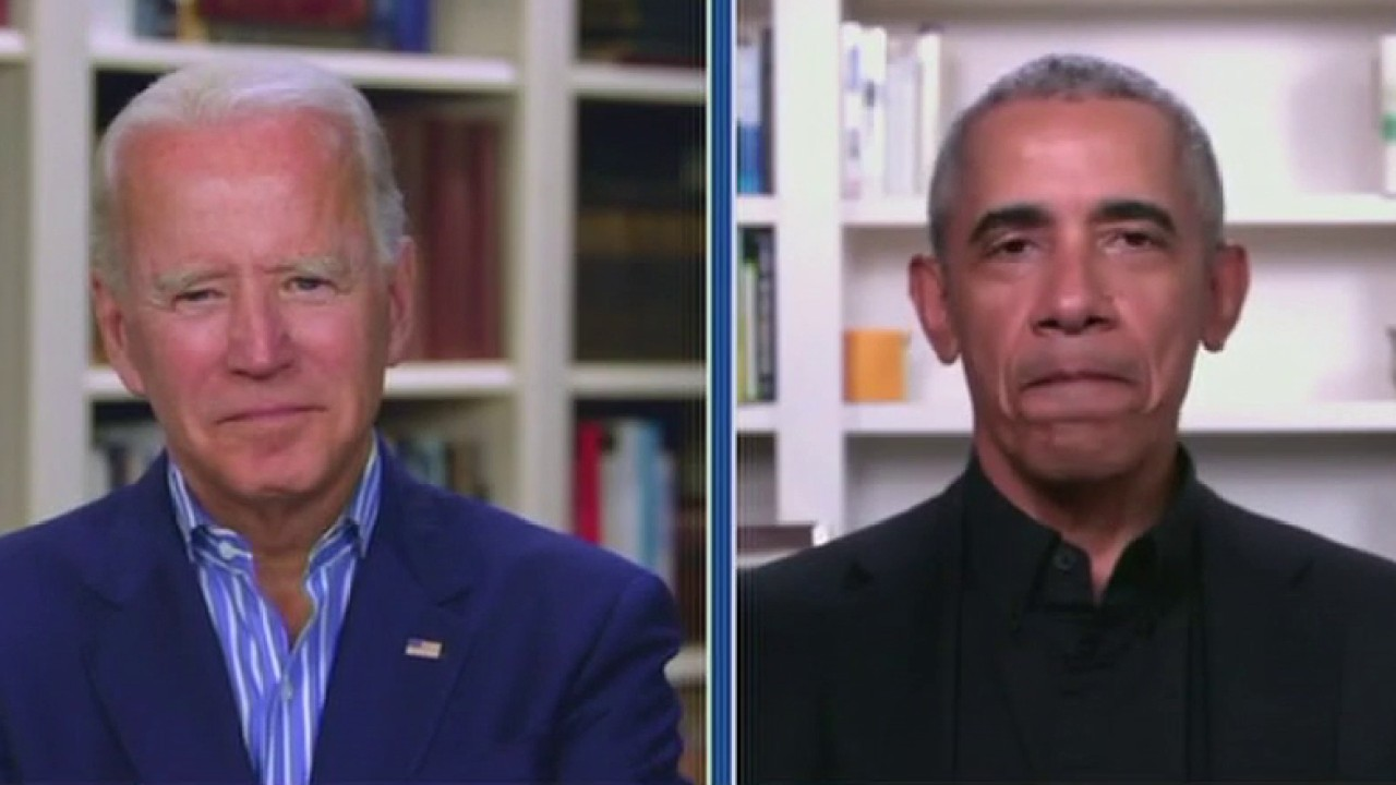 Biden, Obama target Trump in socially distanced sit-down