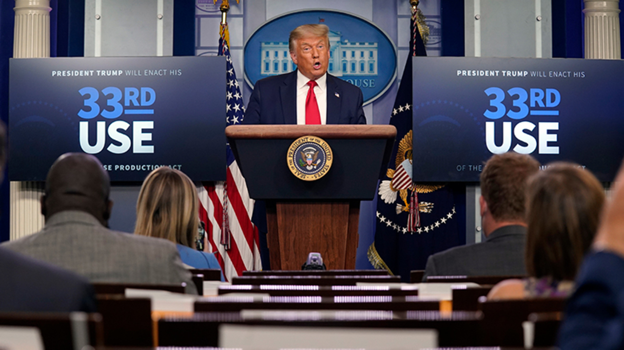 Trump ends press briefing after defending pro-hydroxychloroquine doctor who says virus has a 'cure'