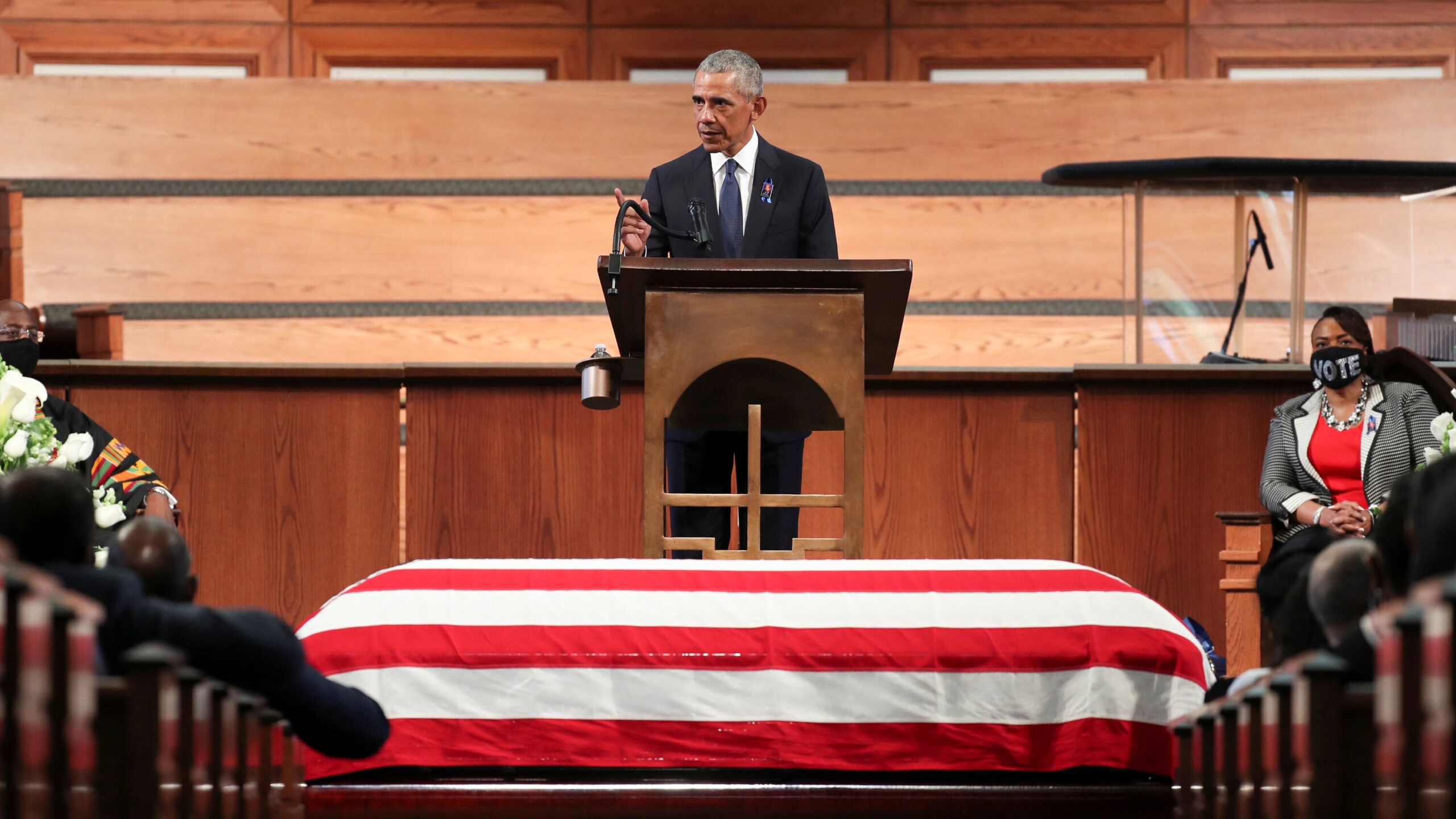 At Lewis Funeral, Obama Lashes Trump and Calls Filibuster a 'Jim Crow Relic'