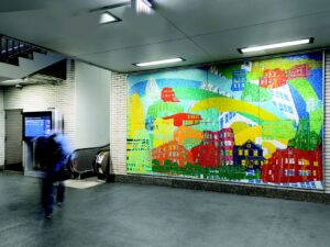 Moving art: Dozens of CTA L, bus stations  are home to murals, mosaics and sculptures