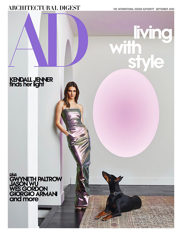 Kendall Jenner covers Architectural Digest 2020