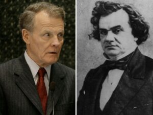 'Symbols of hate' — Madigan wants Stephen Douglas portrait, statues removed from state Capitol