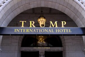 Appeals court pauses lawsuit over Trump hotel profits