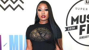 Megan Thee Stallion's Hair Makeover: 'Savage' Rapper Debuts Sleek Platinum Blonde Cut — Before & After