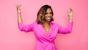 Kandi Burruss, 44, Strikes Fierce Pose In A Colorful Jumpsuit & Fans Think She Looks 'Flawless'