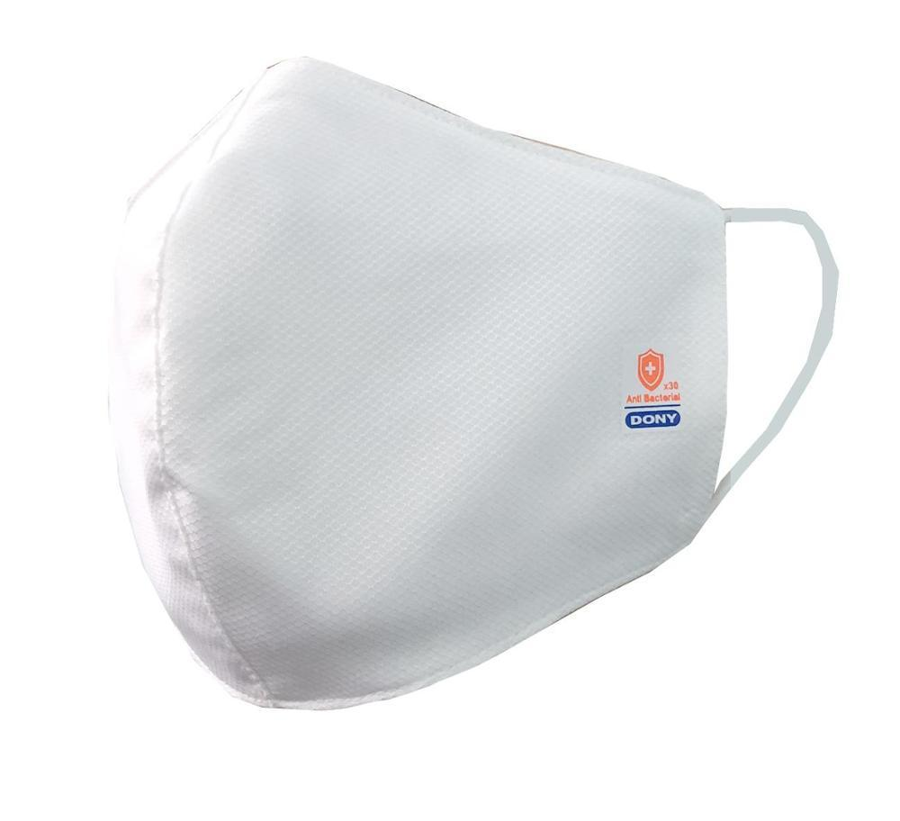 white antibacterial cloth face mask