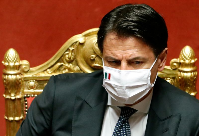 Italy PM says to present recovery plan to EU by mid-October