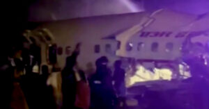 Air India Plane With 180 Passengers Skids Off Runway and Cracks in Half