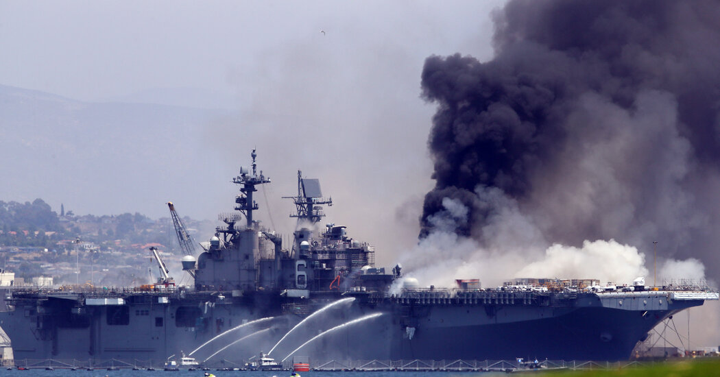 Sailor Investigated for Arson After Burning of Navy Warship