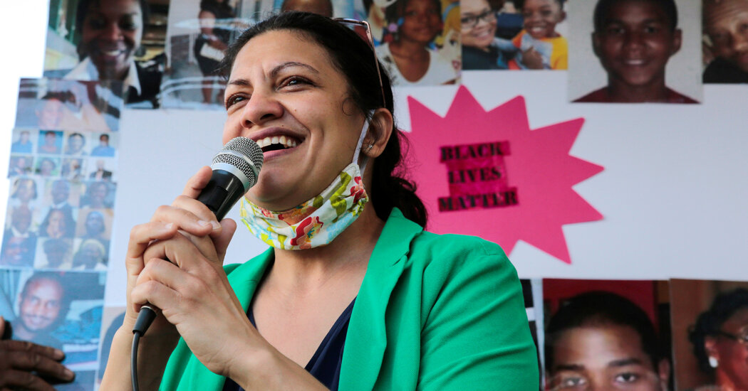 Rashida Tlaib Cruises to Victory in a Primary Rematch