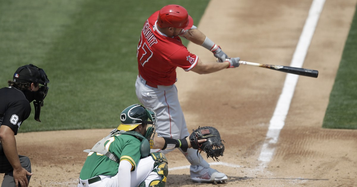 Angels hold off Athletics to end four-game losing streak