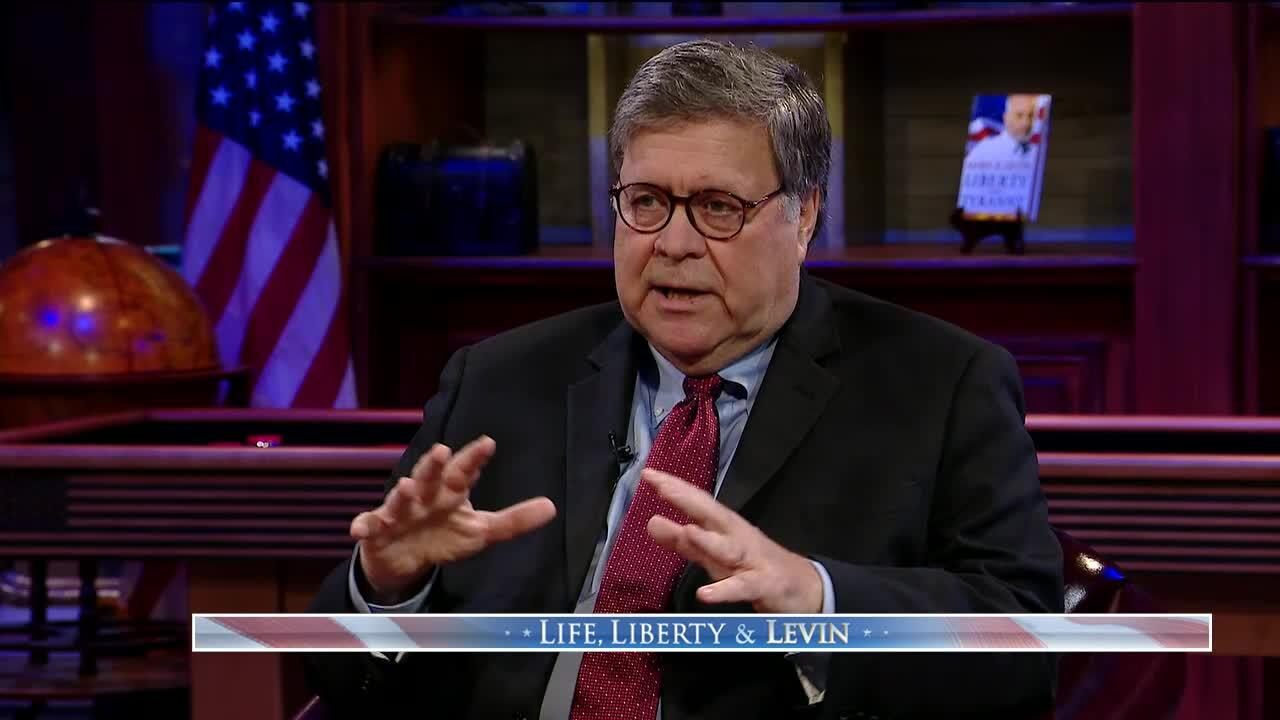 Barr blasts far left for making politics a 'secular religion,' calls Dems who excuse violence 'cowards'