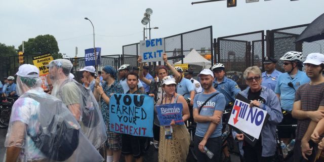 Democratic convention sees party unity mission: Keep 'restive' Bernie Sanders supporters from blowing this