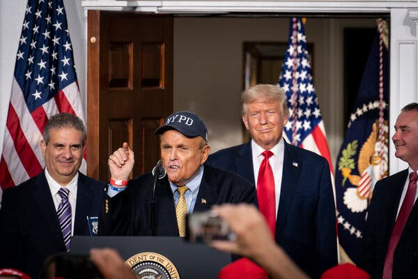 In Trump's Gilded Beltway, Rudy Giuliani Finds a Potent Reward: Relevance