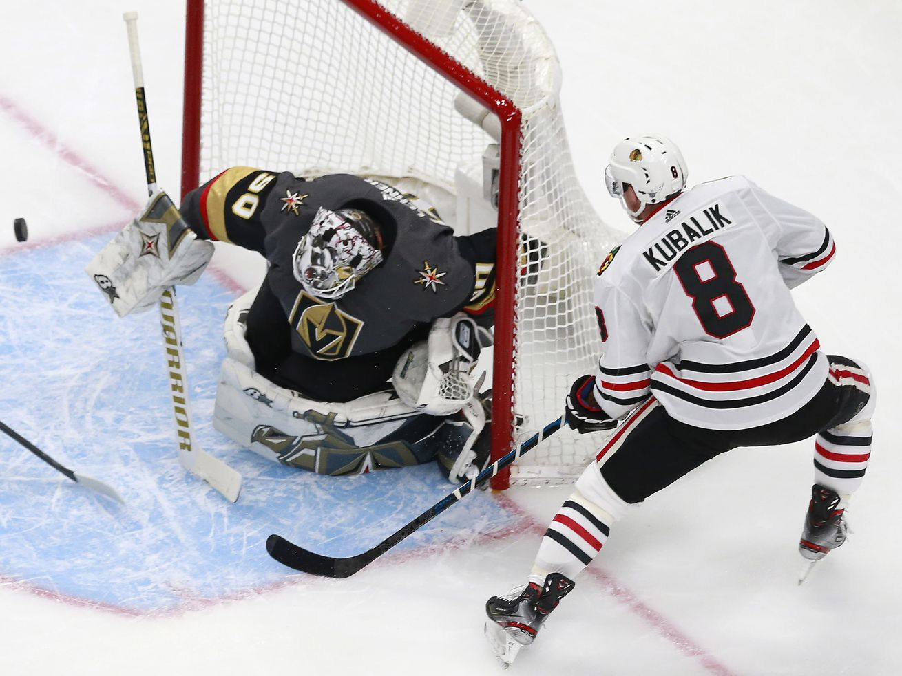 Blackhawks want to push structure into offensive zone in Game 2 vs. Golden Knights