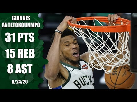 Giannis Antetokounmpo leads Bucks with near triple-double [GAME 4 HIGHLIGHTS] | 2020 NBA Playoffs