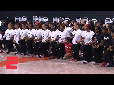 WNBA players take collective knee as all three games are postponed | ESPN
