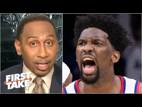 Stephen A. delivers a fired-up speech about Joel Embiid | First Take