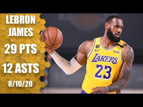 LeBron James notches double-double in nail biter vs. Nuggets | 2019-20 NBA Highlights