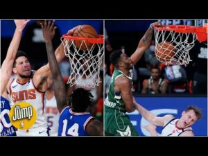 Which dunk is better: Booker or Thanasis? | The Jump