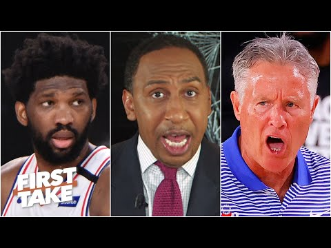 Stephen A. sounds off on Brett Brown: Get Joel Embiid the ball! It's just inexcusable! | First Take