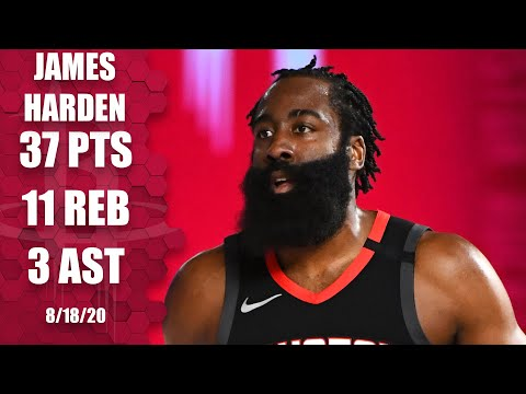 James Harden leads Rockets with 37 points vs. Thunder [GAME 1 HIGHLIGHTS] | 2020 NBA Playoffs
