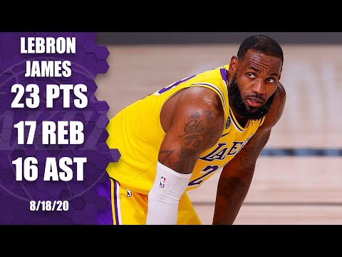LeBron James has historic triple-double in Game 1 loss vs. Blazers | 2020 NBA Playoffs