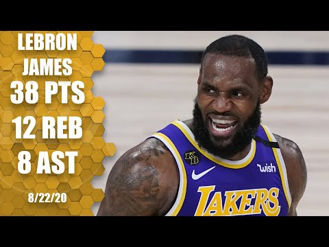 LeBron James scores 38 for Lakers vs. Trail Blazers [GAME 3 HIGHLIGHTS] | 2020 NBA Playoffs