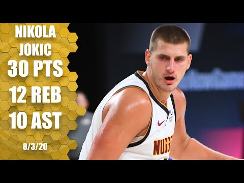Nikola Jokic posts triple-double for Nuggets against the Thunder | 2019-20 NBA Highlights
