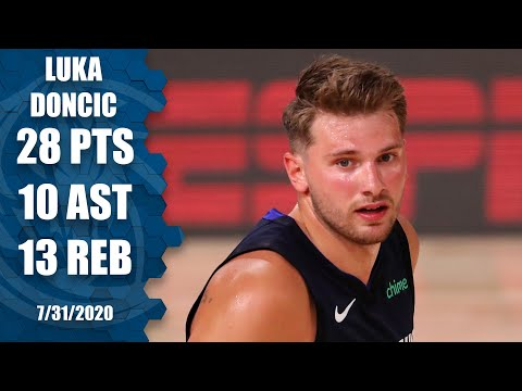 Luka Doncic records triple-double vs. Rockets in first NBA game since March | 2019-20 NBA Highlights