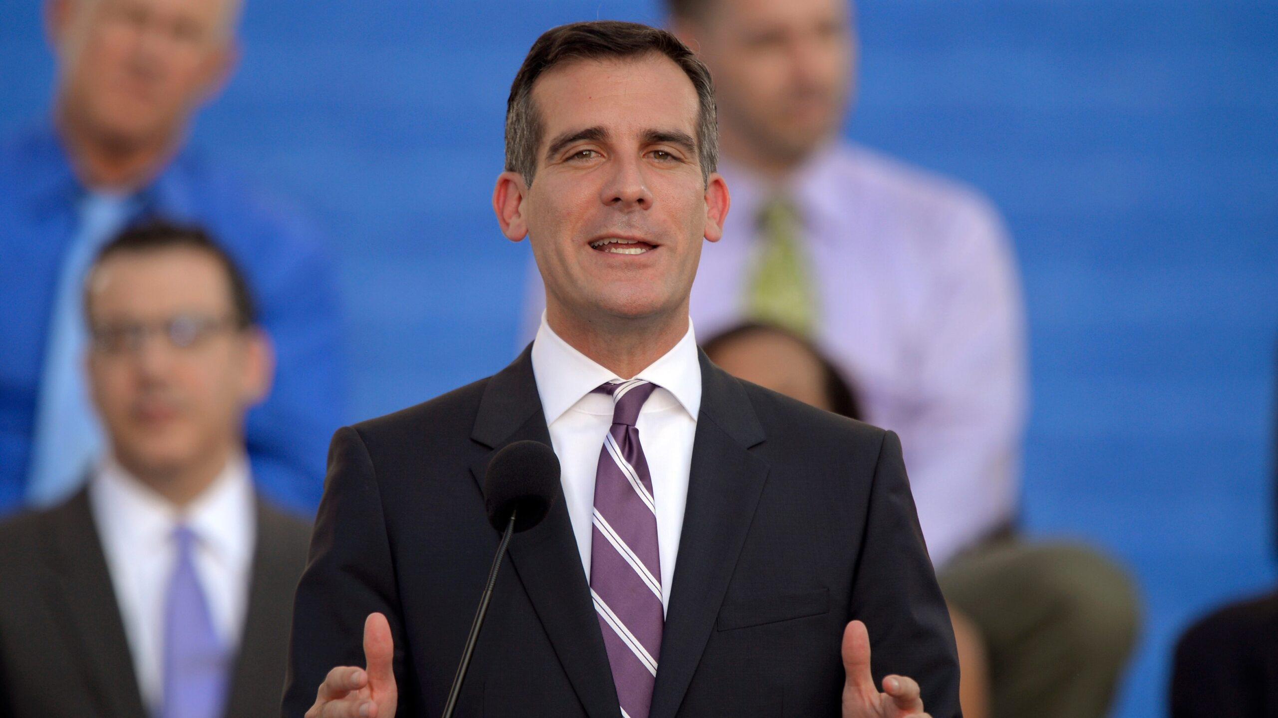 LA's Garcetti under fire from police union over 'party house' plan