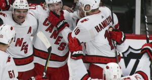 NHL roundup: Andrei Svechnikov's hat trick leads Hurricanes past Rangers; Jets beat Flames