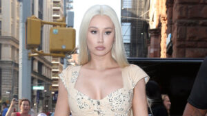 Iggy Azalea Puts Her Post-Baby Body On Display In A Fiery Orange Dress