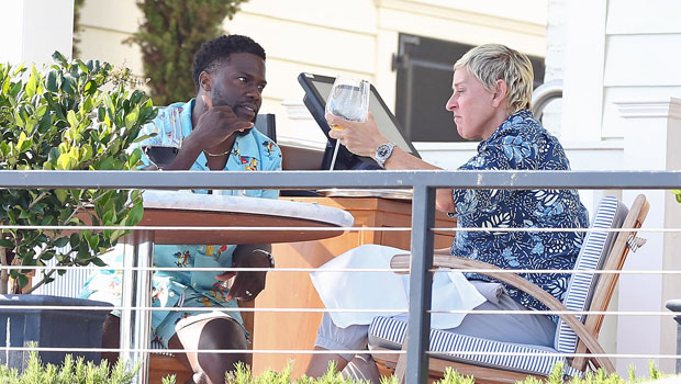 Ellen DeGeneres & Kevin Hart Get Lunch After He Supports Her As She Fights To Heal Show Issues