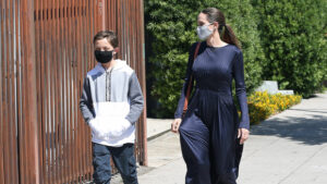Angelina Jolie Bonds With Son Knox, 12, On Special Mother/Son Outing — Pics