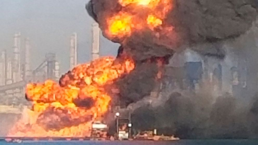 4 people missing after pipeline explosion at port in Texas