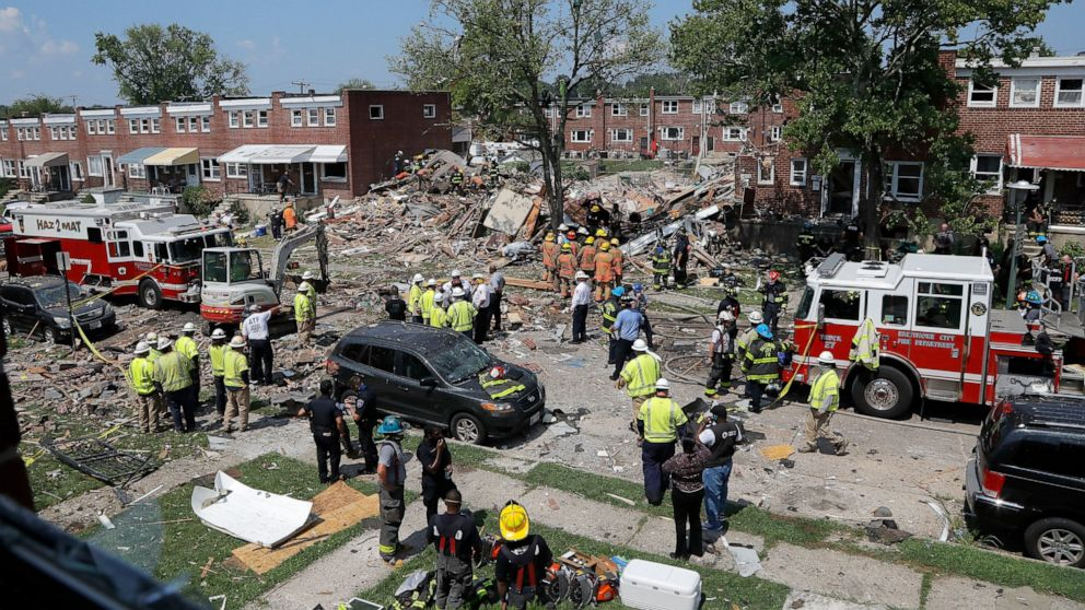 Utility says equipment not to blame for Baltimore explosion