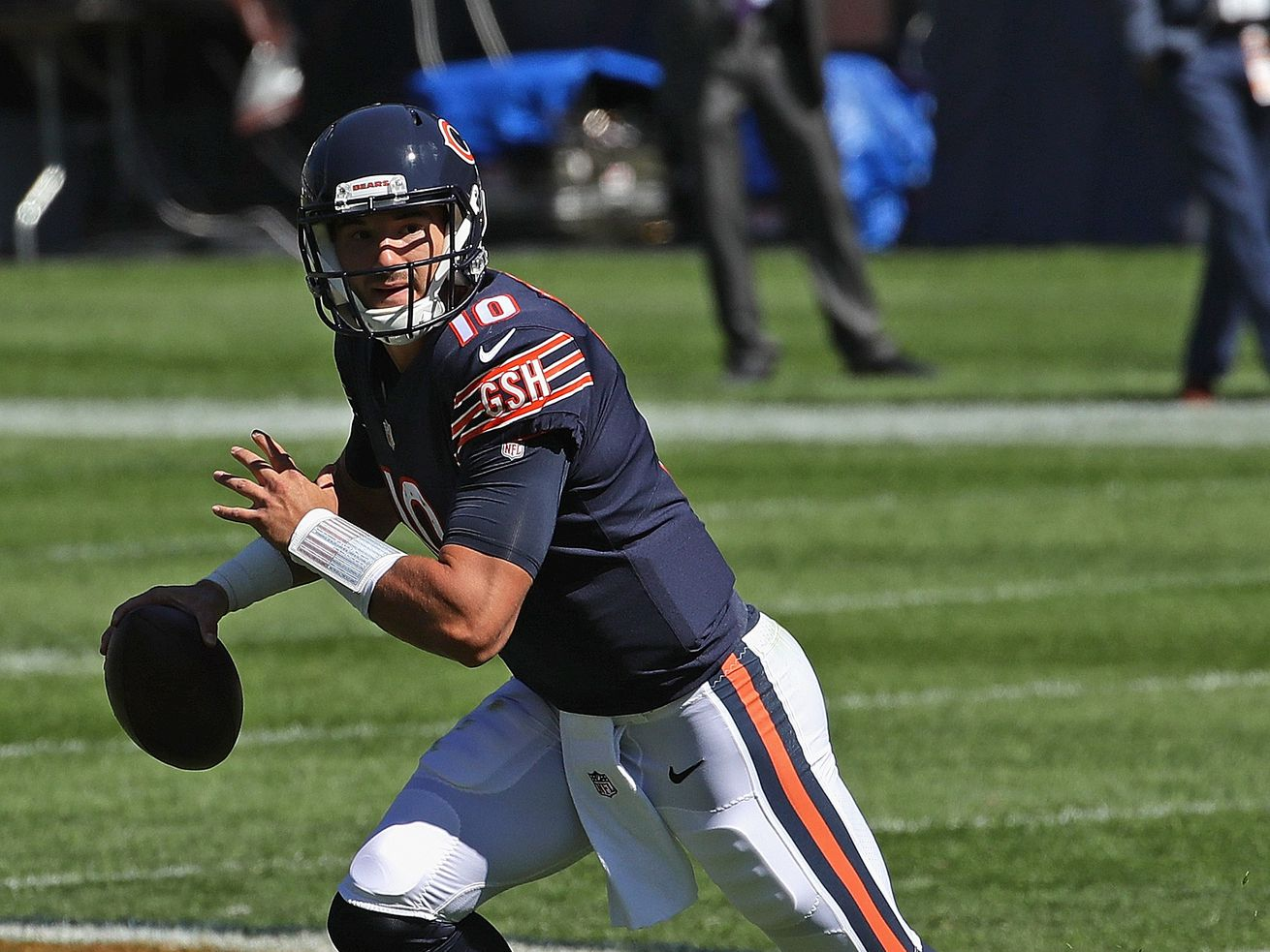 Instead of a giant leap, Mitch Trubisky still takes a small step