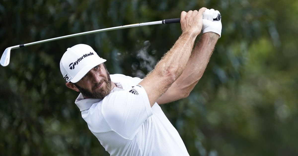 Dustin Johnson turns rough day into one-shot lead at Tour Championship