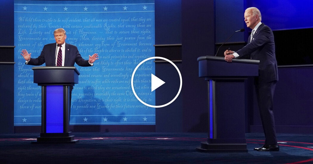 Watch: Highlights From the First Presidential Debate